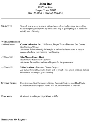 categories - Resumes Etc